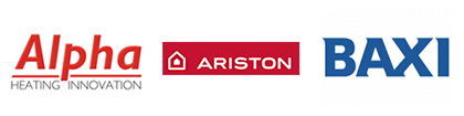 Alpha Ariston and Baxi Logos