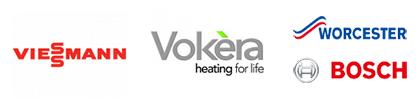 Viessmann Vokera and Worcester Bosch Logos
